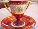 Click to view larger image of RS PRUSSIA PEDESTAL H.P. CUP/SAUCER MYTHOLOGI (Image3)