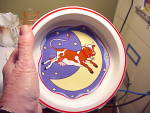 Click to view larger image of TIFFANY CHILD FEEDING BOWL W/COW (Image1)