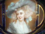 Click to view larger image of OVAL TWO HANDLED BOWL WITH Gainsboro portrait of Lady (Image1)