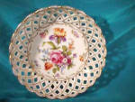 Click here to enlarge image and see more about item c19: RS PRUSSIA (ES) RETICULATED DRESDEN FLOWERS BOWL