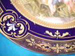 Click to view larger image of ROYAL VIENNA SIGNED PORTRAIT PLATE/COBALT (Image3)