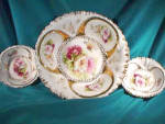 Click here to enlarge image and see more about item c347: RS PRUSSIA (OS) 7 PIECE BERRY SET  HEAVY GOLD