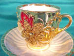 Click to view larger image of RS PRUSSIA(?) (OS) HEAVY GOLD CUP & SAUCER (Image2)