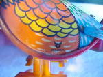 Click to view larger image of TIN WIND-UP CHICKEN WITH EGG ON CART (Image4)