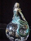 Art Glass Paperweight/Female Figure Top