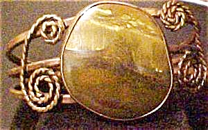 Hand Made Tiger Eye Bangle Bracelet (Image1)