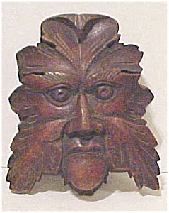 Wooden Architectural Mythical Face (Image1)