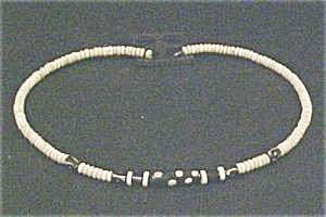 African  Bone Choker Necklace - Vintage (Image1)