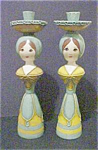 Hand Made Female Figural Candleholders - Pair (Image1)