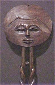 African Figure/Mask - Hand Carved (Image1)