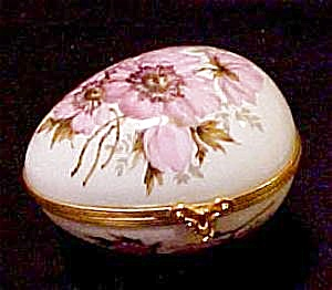 Limoges Egg-shaped Hinged Box