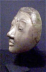 Bronze/Nickel & Silver Plated Female Mask (Image1)