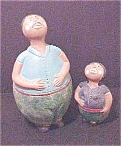 Mexican Folk Art Figures - Father & Daughter (Image1)