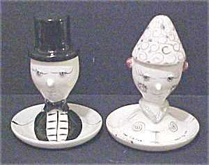 Vintage Napco Male & Female Egg Cups/salt