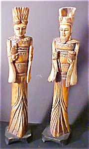Bone Male & Female Oriental Figures (Image1)