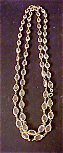 Faceted Glass Bead Rope Necklace - 1960's