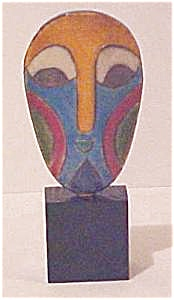 South African Miniature Raku Mask (Image1)