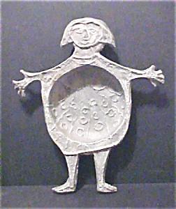 Vintage Hand Made Figural Metal Bowl (Image1)