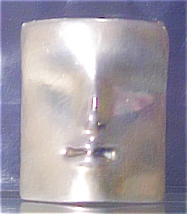 Contemporary Minature Sterling Silver Mask (Image1)