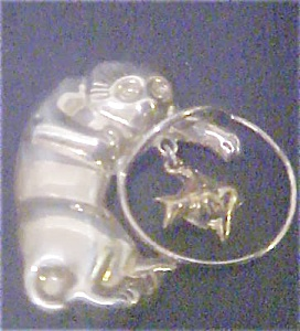 Sterling Silver Cat Pin - Signed (Image1)