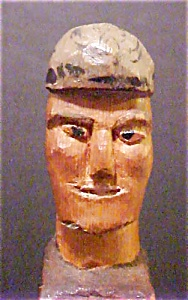 Hand Carved Figure of Trapper/Signed (Image1)