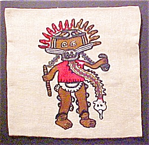 pre-Columbian Style Pillow Cover - #1 (Image1)