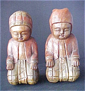 Hand Carved Wooden Burmese Dolls (Image1)