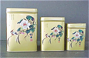 Set of 3 Oriental Tins - Signed (Image1)