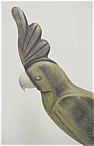 Carved Wooden Parrot With Inset Eyes (Image1)
