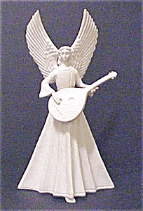 Vintage Porcelain Angel With Mandolin (Image1)