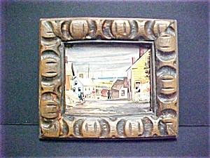 Vintage Harbour Scene Art Print (Image1)