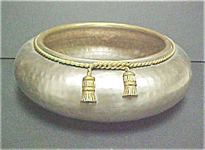 Solid Brass Repousse Bowl (Image1)
