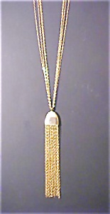 Multistrand Gold Toned 20's Style Necklace (Image1)