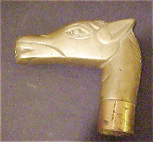 Metal Animal Figural Cane Head