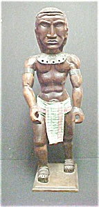 Carved Figure Of An Oceanic Warrior (Image1)