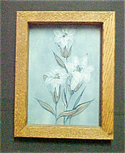 Floral Art Tile - Framed (Image1)