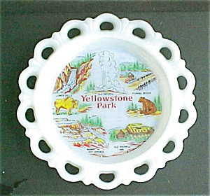 Yellowstone Park Scenic Glass Plate