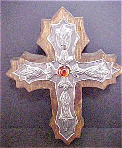 Wood & Metal Worked Cross (Image1)