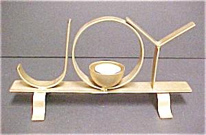 JOY Gold Color Tone Washed Iron Candleholder (Image1)