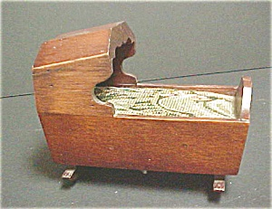 Antique Style Wooden Cradle - Music Box (Image1)