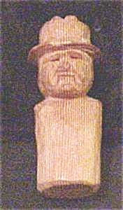 Hand Carved Wooden Man (Image1)