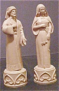 Middle Eastern Figural Chess Pieces - Two