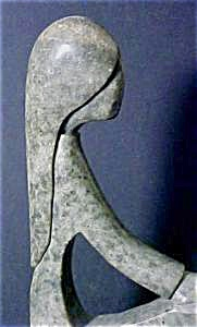Hand Carved Soapstone Of A Young Woman