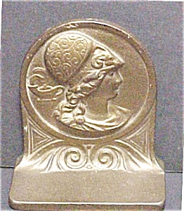 Art Deco Cast Iron Bookend with Bronze Finish (Image1)