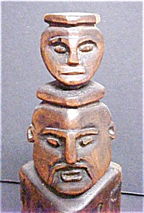 Chinese Style Wooden Carved Figures