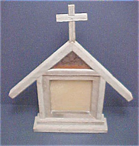 Vintage Folk Art Church Frame (Image1)