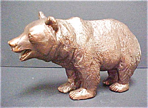 Brass Grizzly Bear Sculpture (Image1)