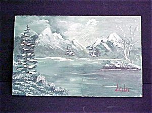 Miniature Scenic View  Of Mountain Lake (Image1)