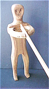 Wooden Folk Art Figure With Saw (Image1)