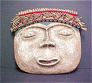 pre-Columbian Style Funerary Mask (Image1)
